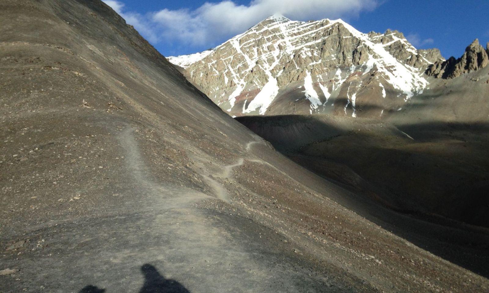 Path leading to Stok Kangri, India