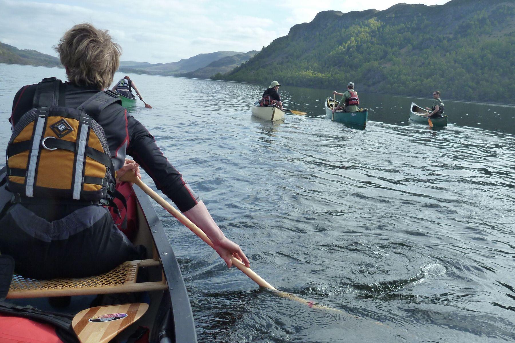 Canoeing Keswick