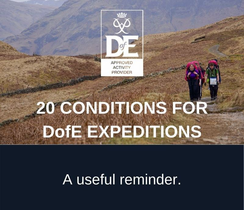 20 Conditions of the DofE Expedition Section