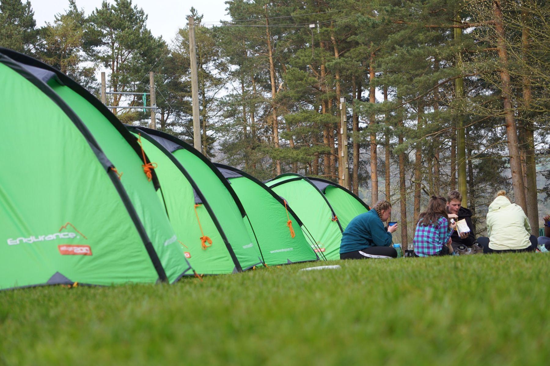 Enjoy a hot dinner in camp.