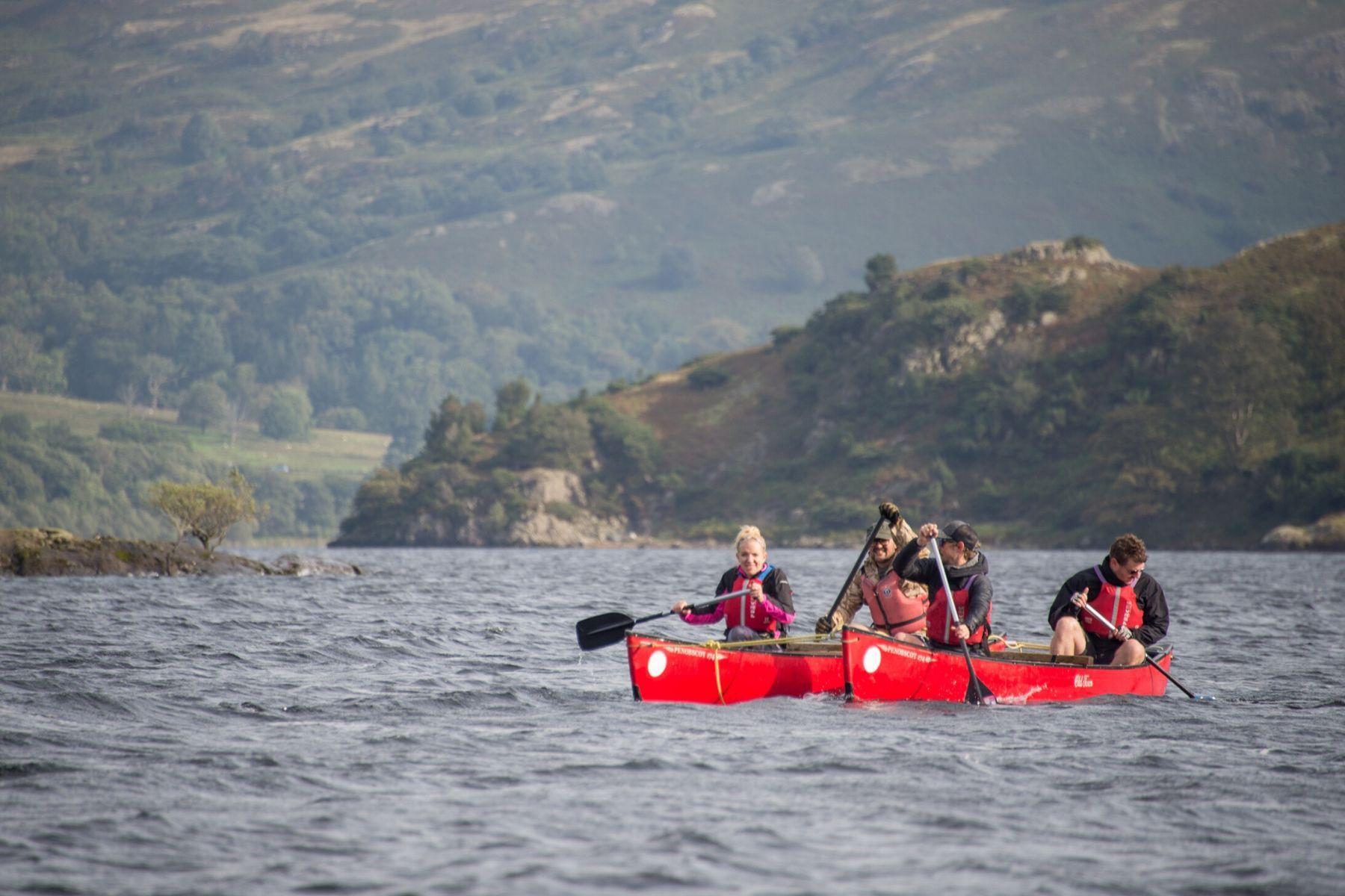 Canoeing Lake District