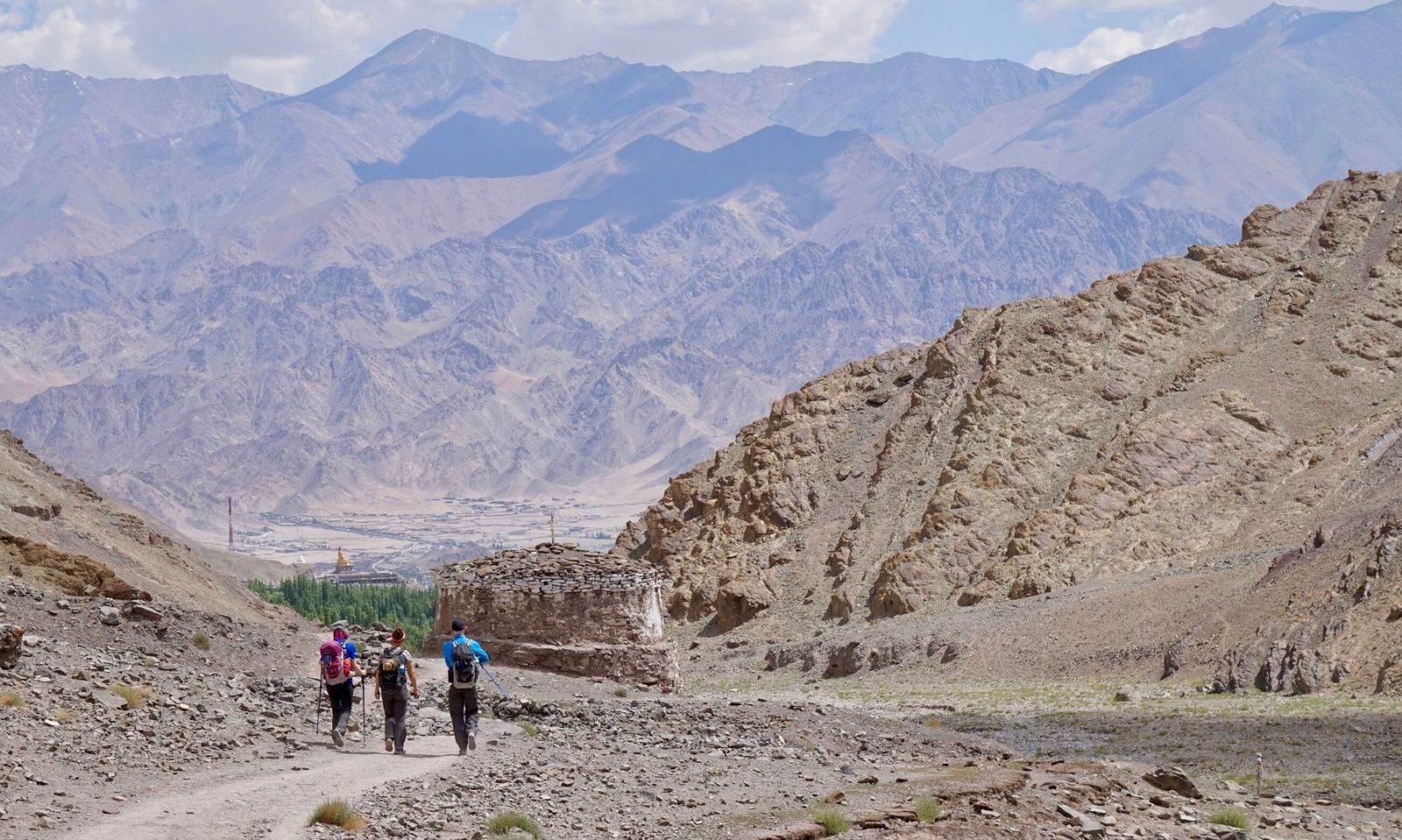Group trekking in India and the Zanskar mountains.